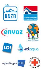 Logo's opleidingsinstanties sport, voeding en leefstijl