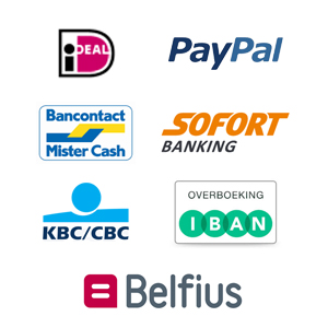Betaalmethoden van onze webshop