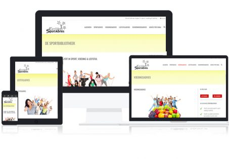 De Sportbibliotheek is een responsive website