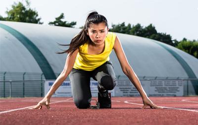 Verschillende atletiek onderdelen
